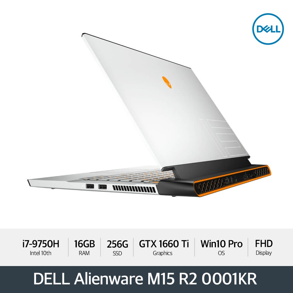 DELL 에일리언웨어 M15 R2 D50M15R20001KR [i7/16GB/15.6형FHD 144Hz/256GB/GTX 1660 Ti/Win10P]