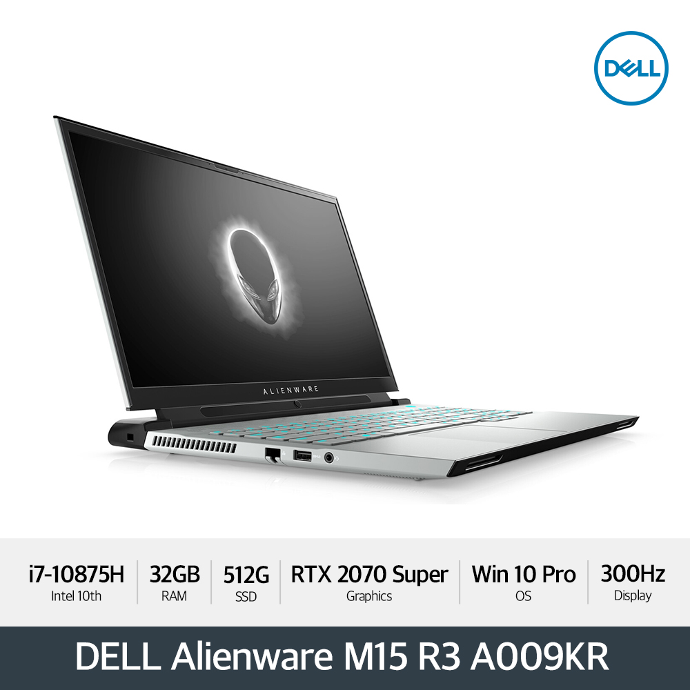 DELL 에일리언웨어 M15 R3 A009KR [i7/32GB/15.6형 FHD 300Hz /512G/RTX 2070 SUPER/ WIN10P]