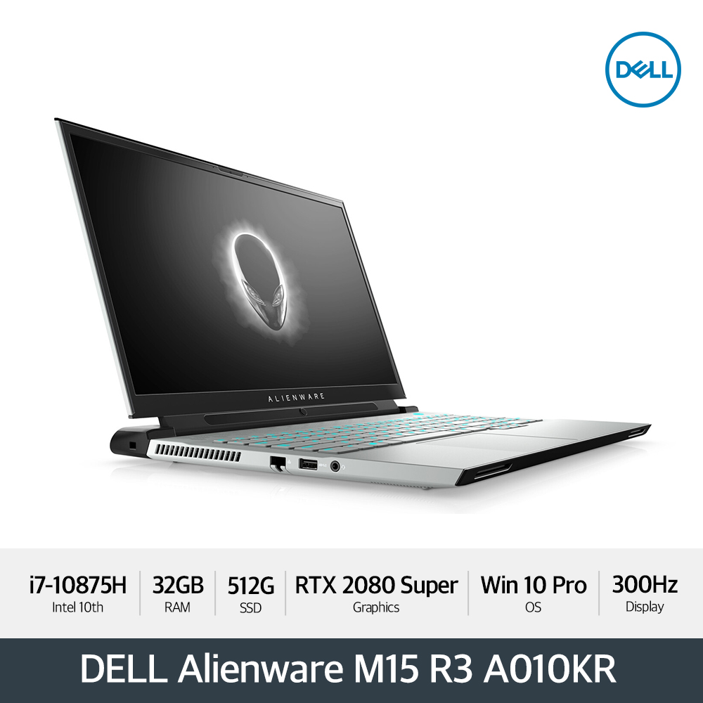 DELL 에일리언웨어 M15 R3 A010KR [i7/32GB/15.6형 FHD 300Hz /512G/RTX 2080 SUPER/ WIN10P]