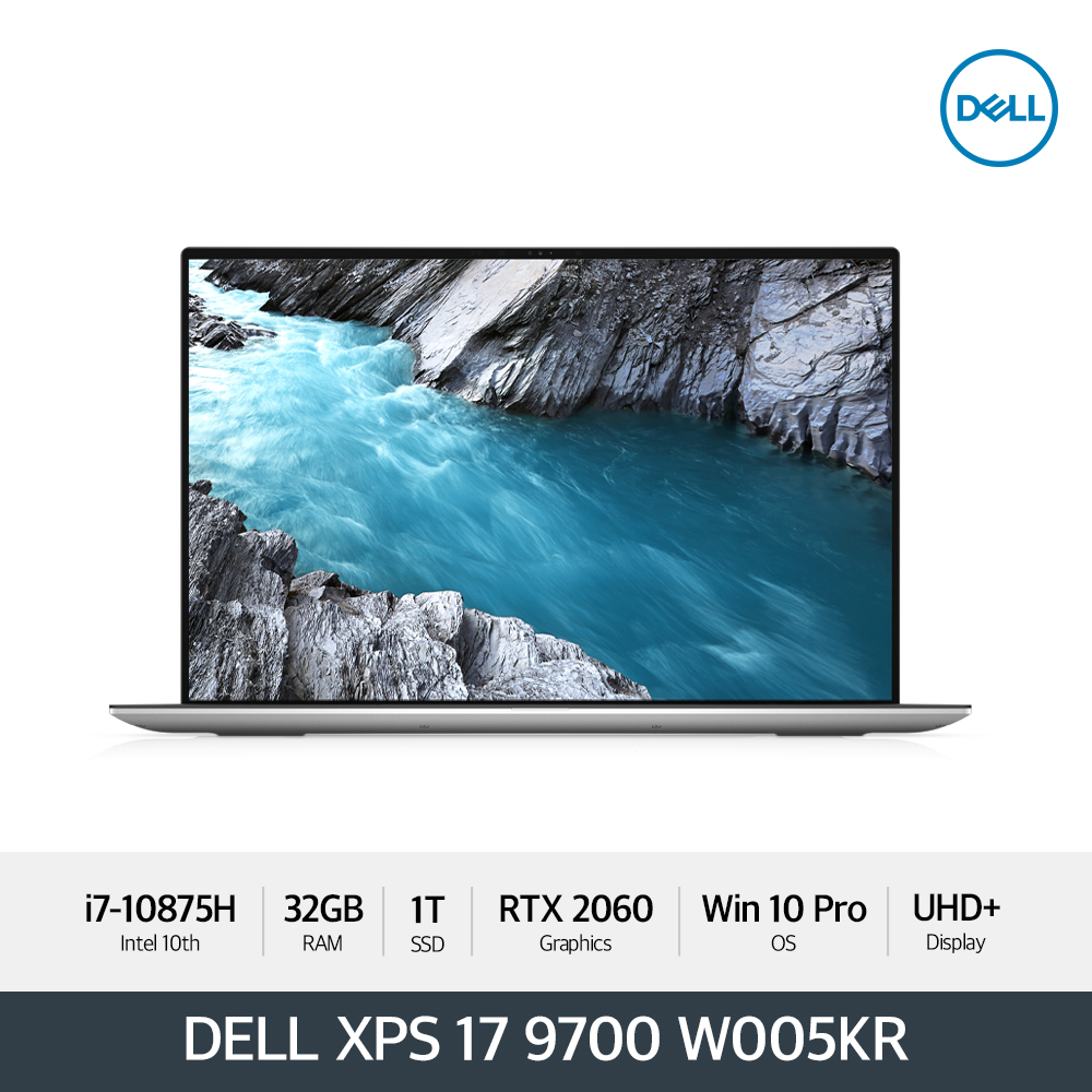 Dell XPS17 9700 W005KR [i7/UHD+(Touch)/1TB/32G/RTX2060/WIN10P]